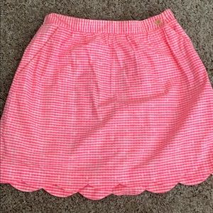 Lilly Pulitzer Mimosa Gingham Skirt in Fiesta Pink